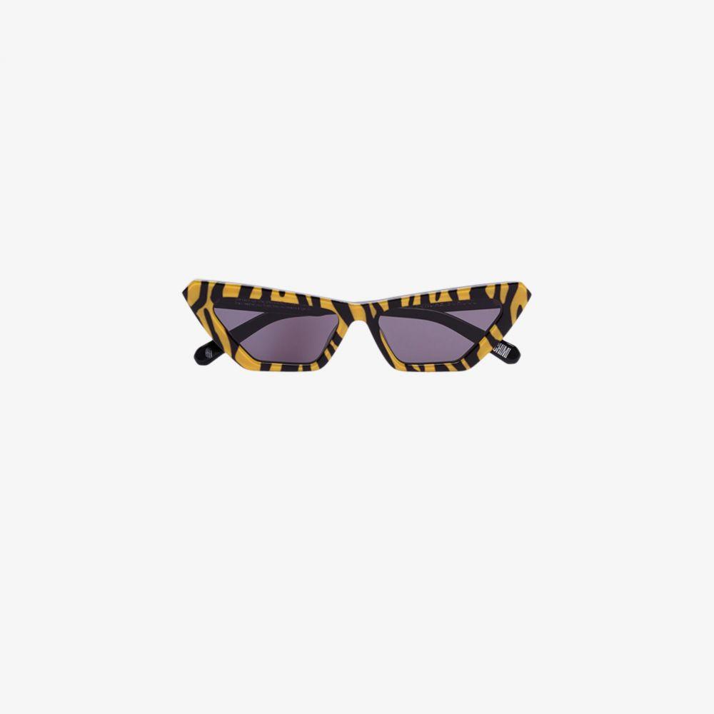 チミ Chimi レディース メガネ・サングラス 【yellow tiger print cat eye sunglasses】yellow