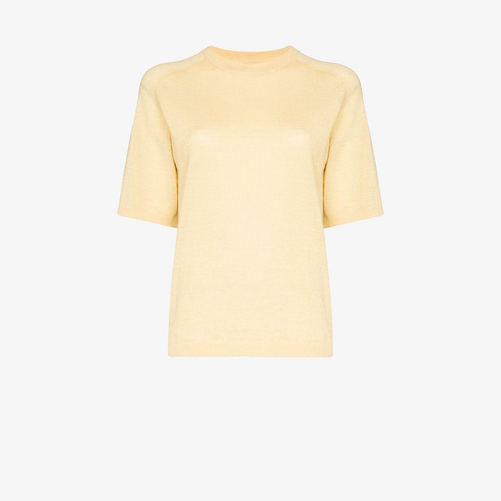 【short レディース top】yellow Carcel alpaca カーセル wool トップス sleeve
