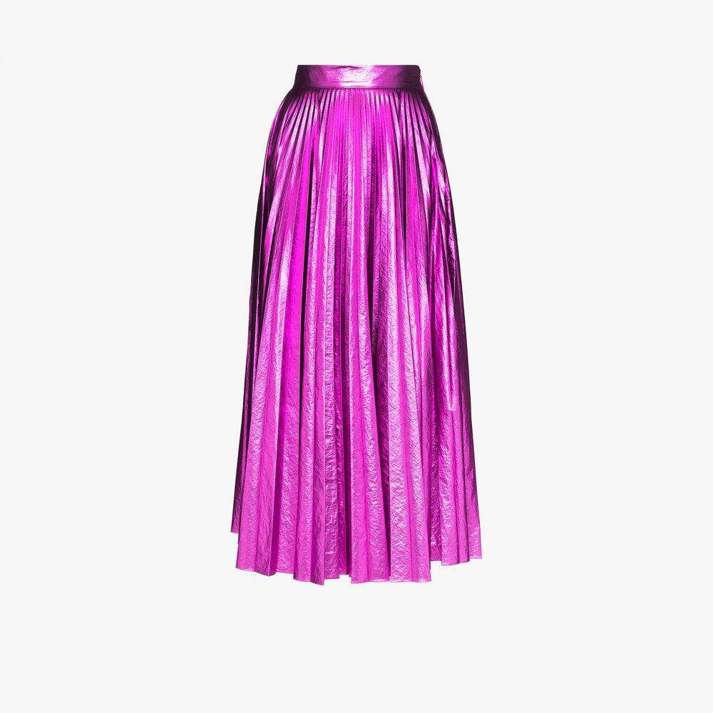 クリストファー ケイン Christopher Kane レディース ひざ丈スカート スカート【pleated metallic midi skirt】pink