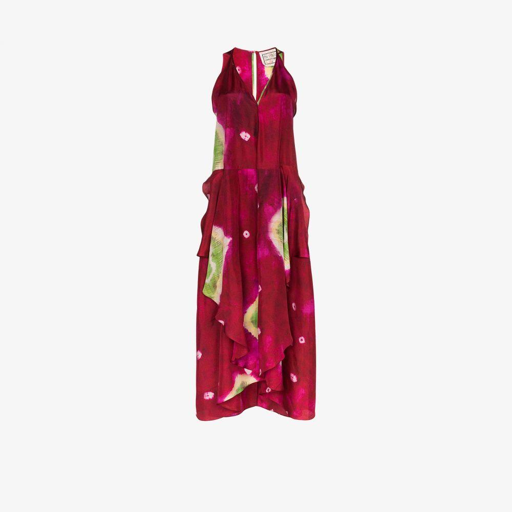 バイウォリッド By Walid レディース ワンピース マキシ丈 ワンピース・ドレス【Janice tie-dye silk maxi dress】pink