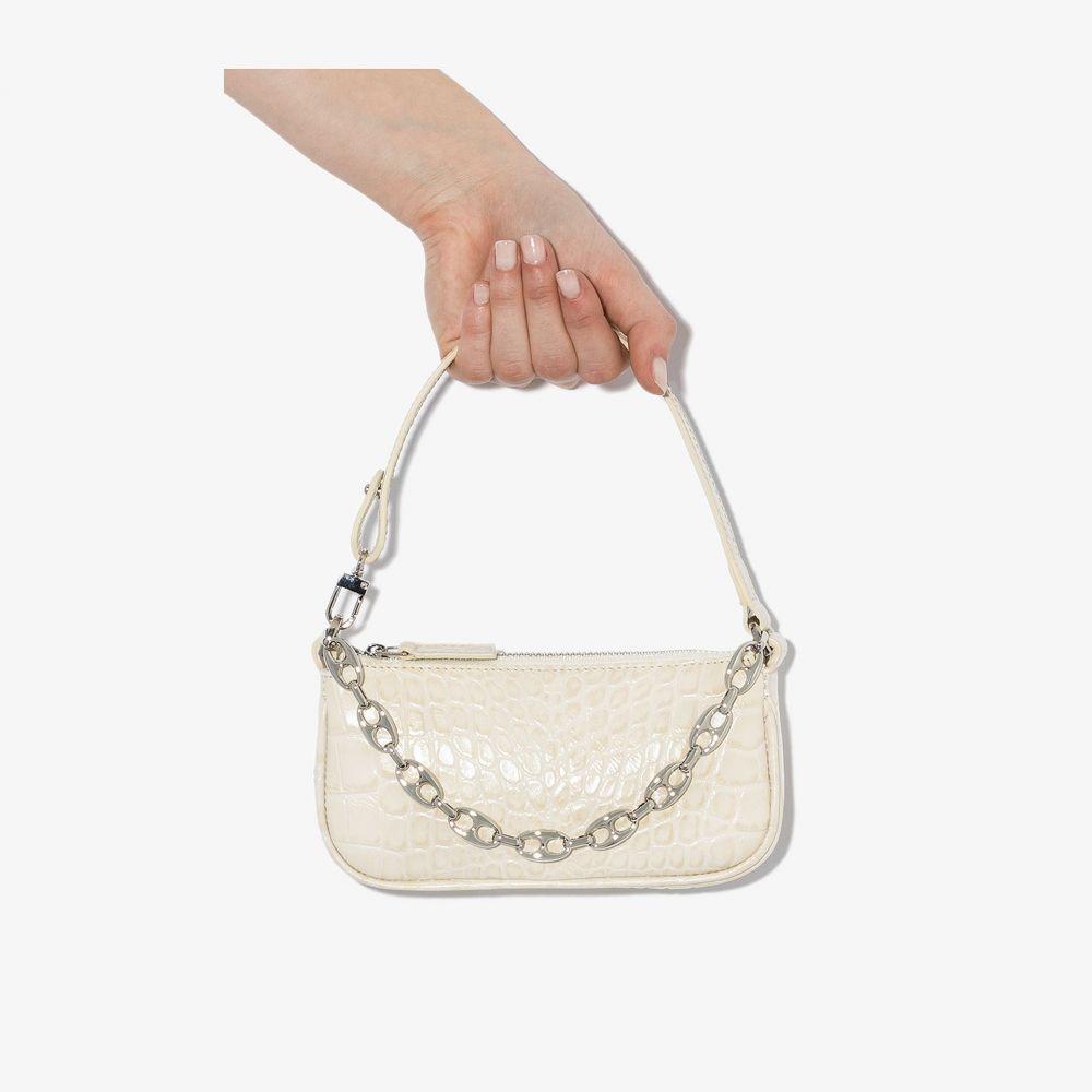 バイ ファー BY FAR レディース ショルダーバッグ バッグ【white mini Rachel mock croc leather shoulder bag】neutrals