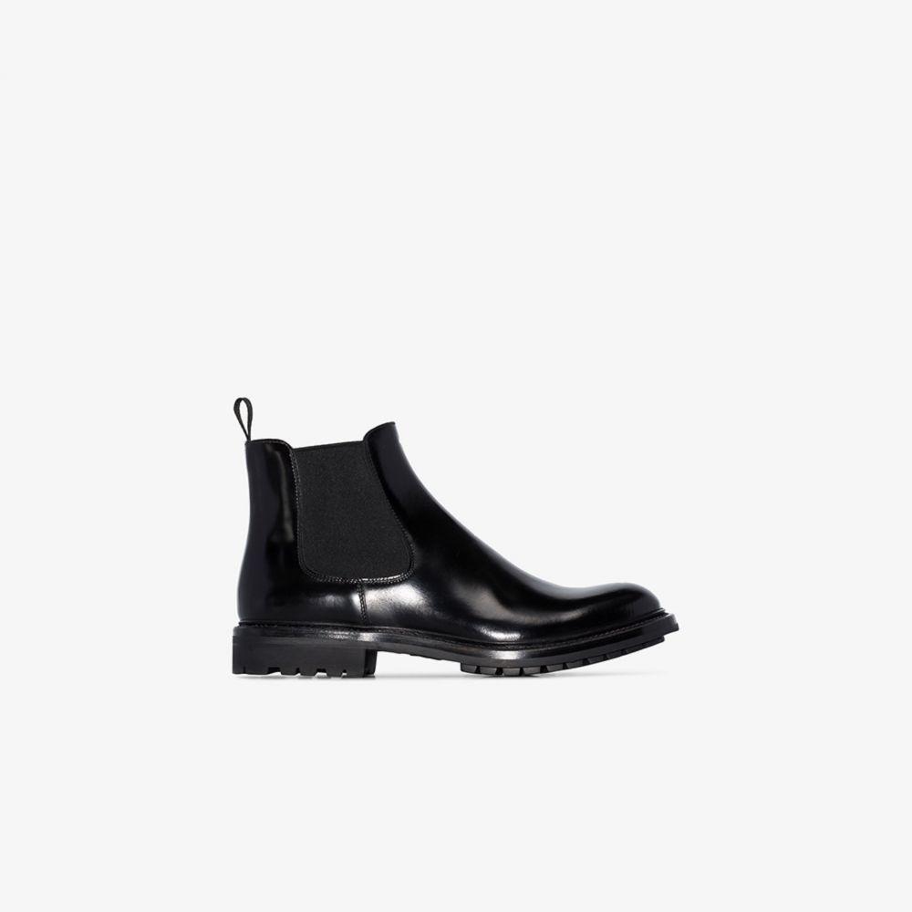 チャーチ Church's レディース ブーツ チェルシーブーツ シューズ・靴【black Genie Leather Chelsea boots】black