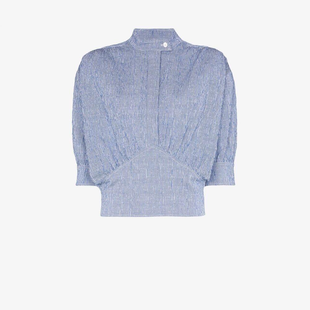 バイエニィアザーネーム By Any Other Name レディース トップス 【striped cummerbund stretch cotton top】blue
