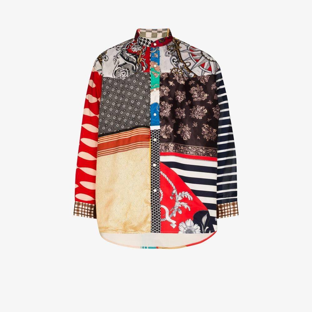 チルドレン オブ ザ ディスコーダンス Children Of The Discordance メンズ シャツ トップス【Patchwork scarf print shirt】red