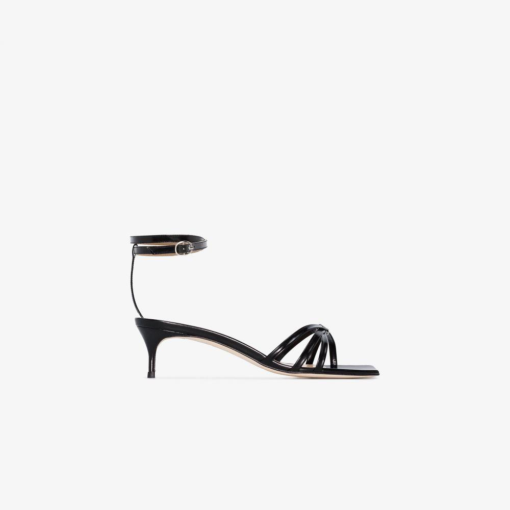 バイ ファー BY FAR レディース サンダル・ミュール シューズ・靴【Black Kaia 50 Patent Leather Sandals】black