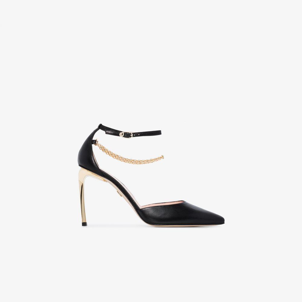 シャルル ジョルダン Charles Jourdan レディース パンプス シューズ・靴【black Misha 90 leather pumps】black