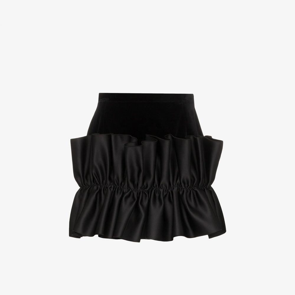 クリストファー ケイン Christopher Kane レディース ミニスカート スカート【frill trim velvet mini skirt】black
