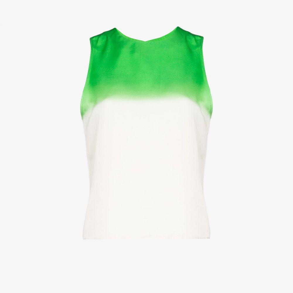 カーセル Carcel レディース タンクトップ トップス【ombre silk tank top】white