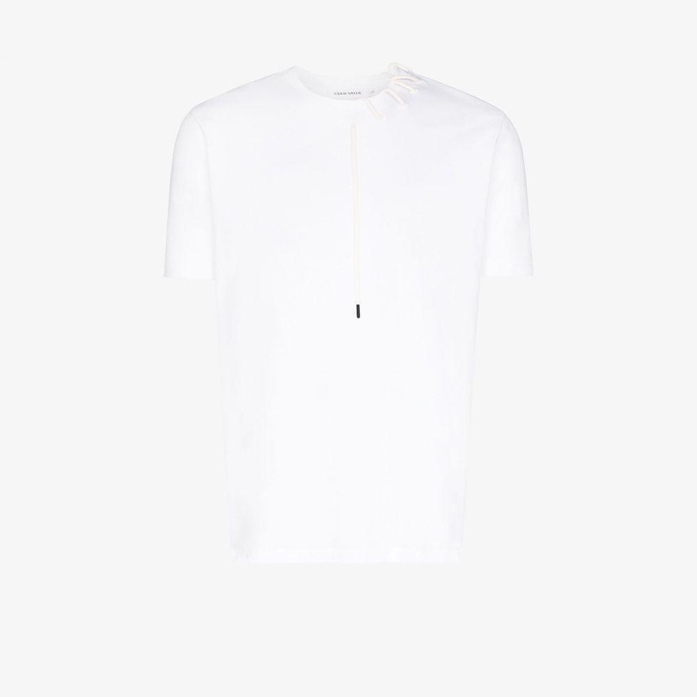 クレイググリーン Craig Green メンズ Tシャツ トップス【lace detail cotton T-shirt】white