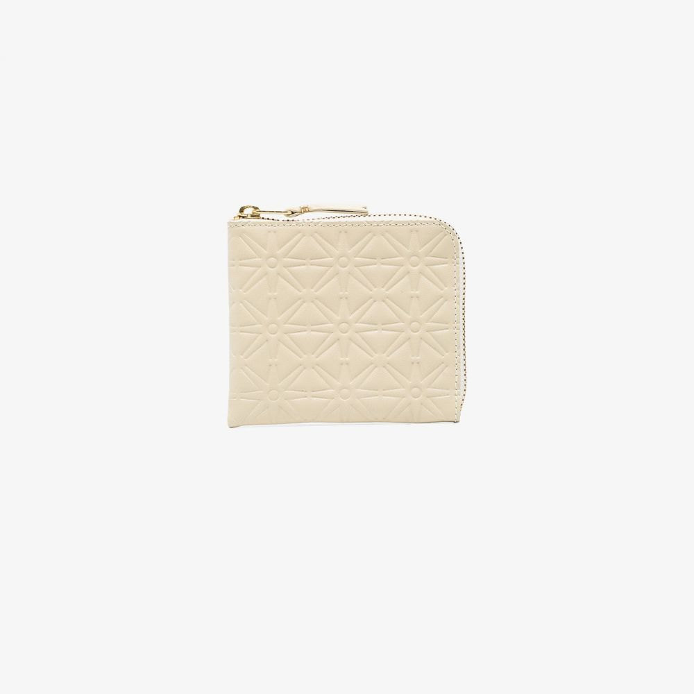 コムデギャルソン Comme Des Garcons Wallet メンズ 財布 【white zip-around embossed leather wallet】white