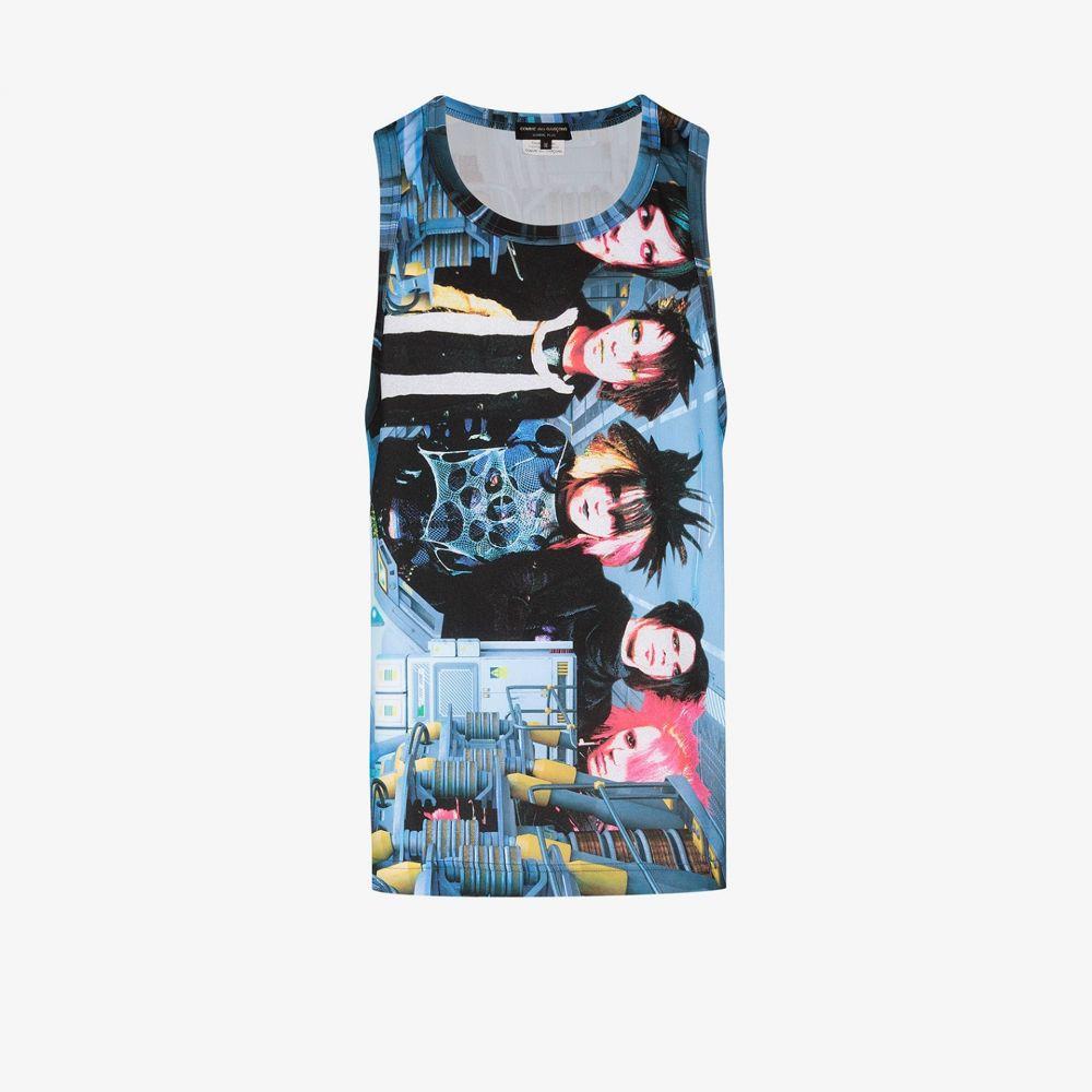 コム デ ギャルソン Comme Des Garcons Homme Plus メンズ ベスト・ジレ トップス【industrial band vest top】blue