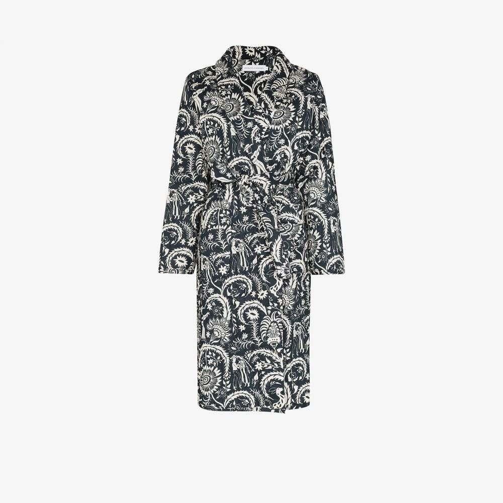 デズモンド&デンプシー Desmond & Dempsey レディース ガウン・バスローブ インナー・下着【Zocalo printed robe】blue