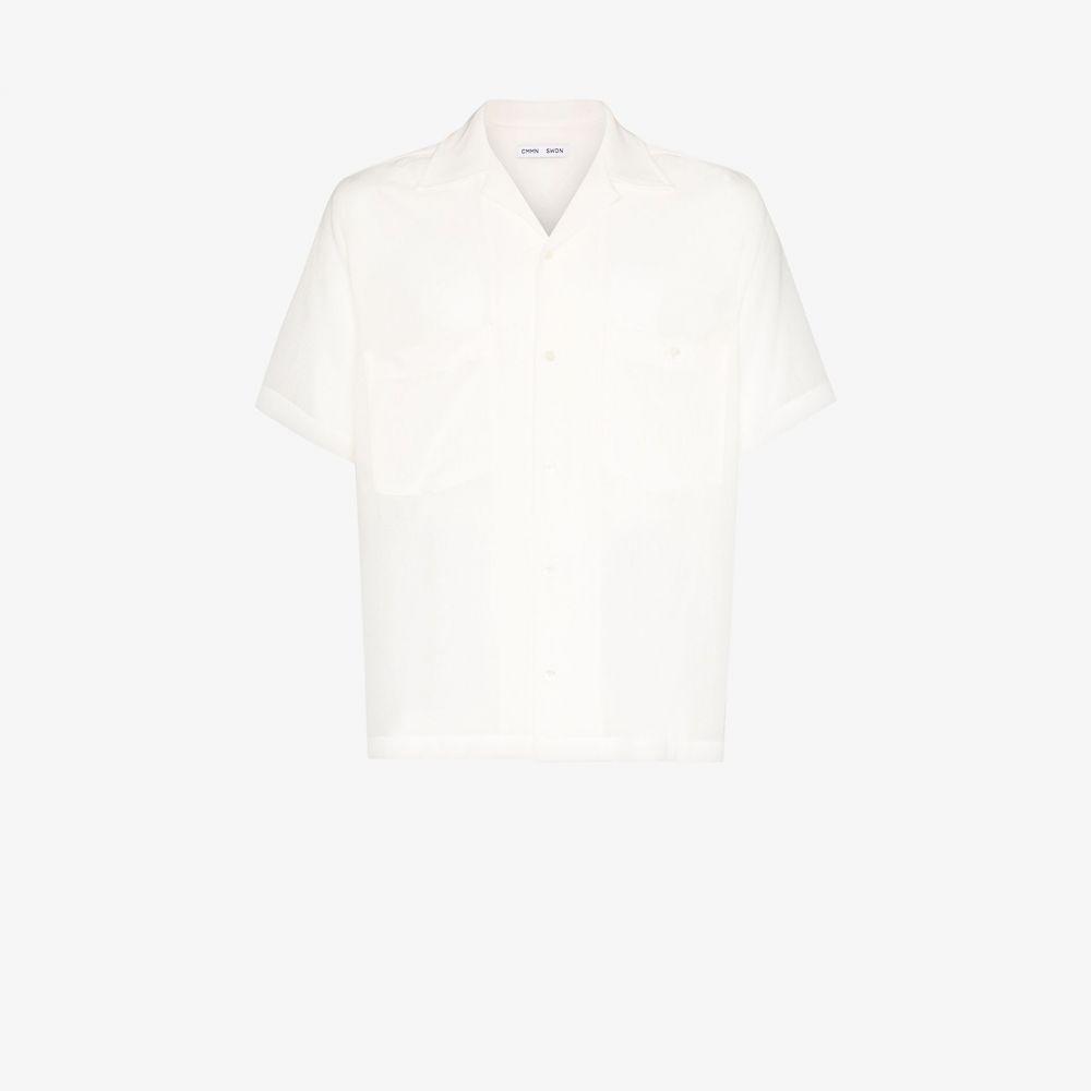 コモン スウェーデン Cmmn Swdn メンズ シャツ トップス【Dexter button-down shirt】white