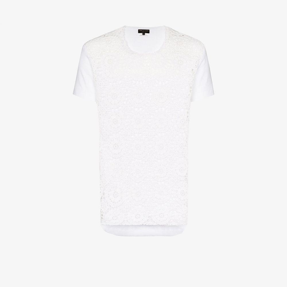 コム デ ギャルソン Comme Des Garcons Homme Plus メンズ Tシャツ トップス【crochet cotton T-shirt】white