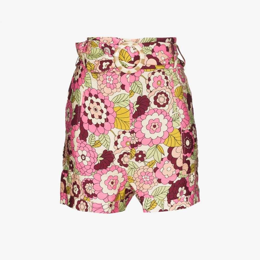 ドド バー オア Dodo Bar Or レディース ビーチウェア ショートパンツ 水着・ビーチウェア【Malca floral high waist shorts】pink