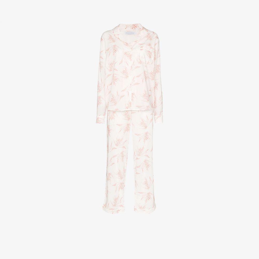 デズモンド&デンプシー Desmond & Dempsey レディース パジャマ・上下セット インナー・下着【Deia cotton pyjama set】white
