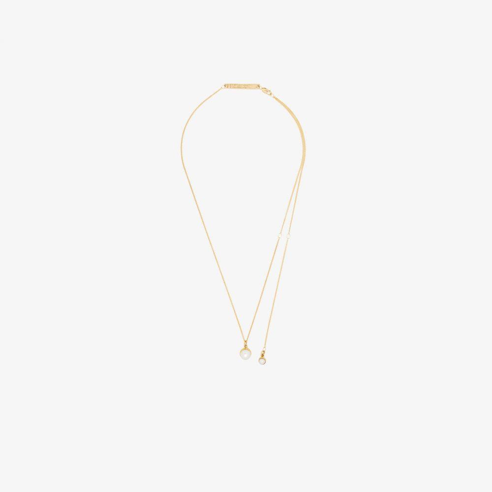 コルネリアウェブ Cornelia Webb レディース ネックレス ジュエリー・アクセサリー【24K gold-plated pearl drop necklace】gold