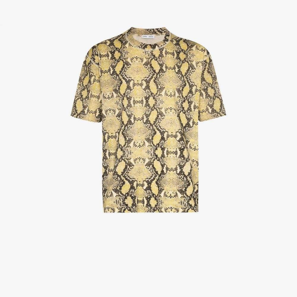 コモン スウェーデン Cmmn Swdn メンズ Tシャツ トップス【Ridley snake print cotton t-shirt】green