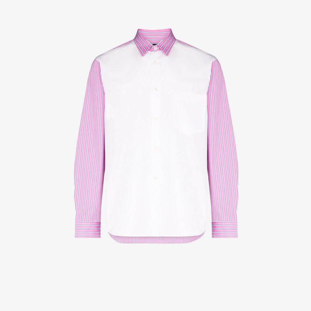 コム デ ギャルソン Comme Des Garcons Homme Plus メンズ シャツ トップス【contrast stripe cotton shirt】white