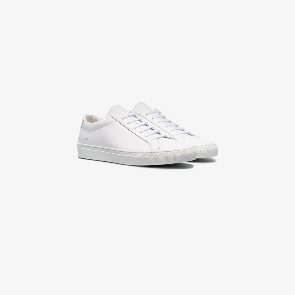 コモン プロジェクト Common Projects メンズ スニーカー ローカット シューズ・靴【white Achilles leather low top sneakers】white