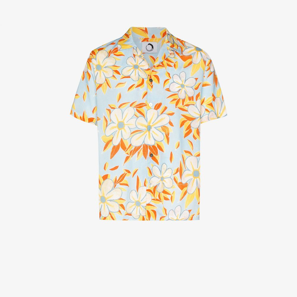 エンドレス ジョイ Endless Joy メンズ シャツ トップス【Acid Flower Aloha printed shirt】blue