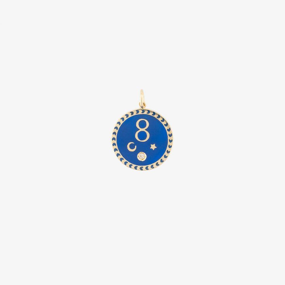ファウンドレー Foundrae レディース ジュエリー・アクセサリー 【18K yellow gold and blue karma medallion pendant】metallic