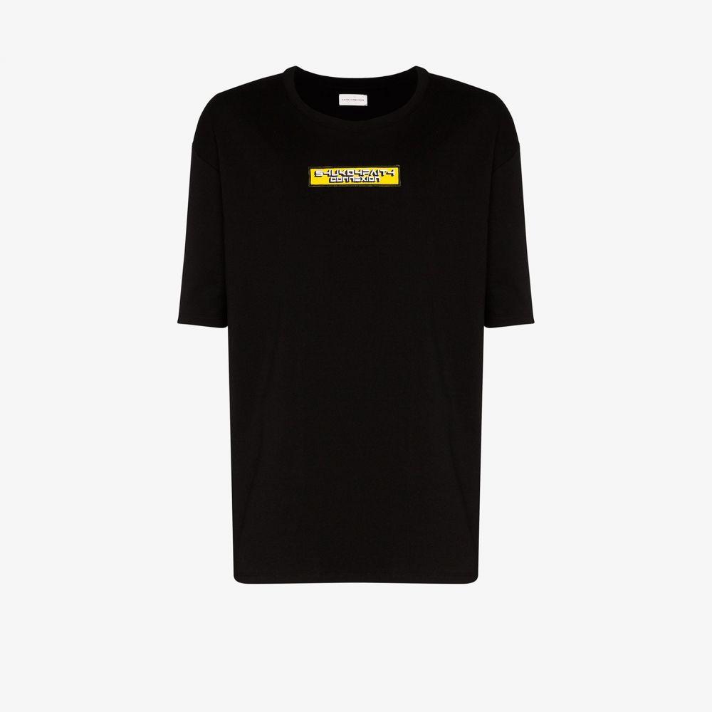 フェイス コネクション Faith Connexion メンズ Tシャツ トップス【X SHUKO logo patch cotton T-shirt】black