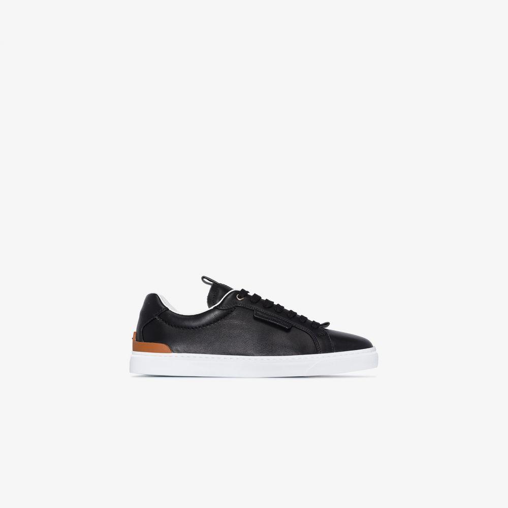 エルメネジルド ゼニア Ermenegildo Zegna メンズ スニーカー ローカット シューズ・靴【black classic leather low top sneakers】black