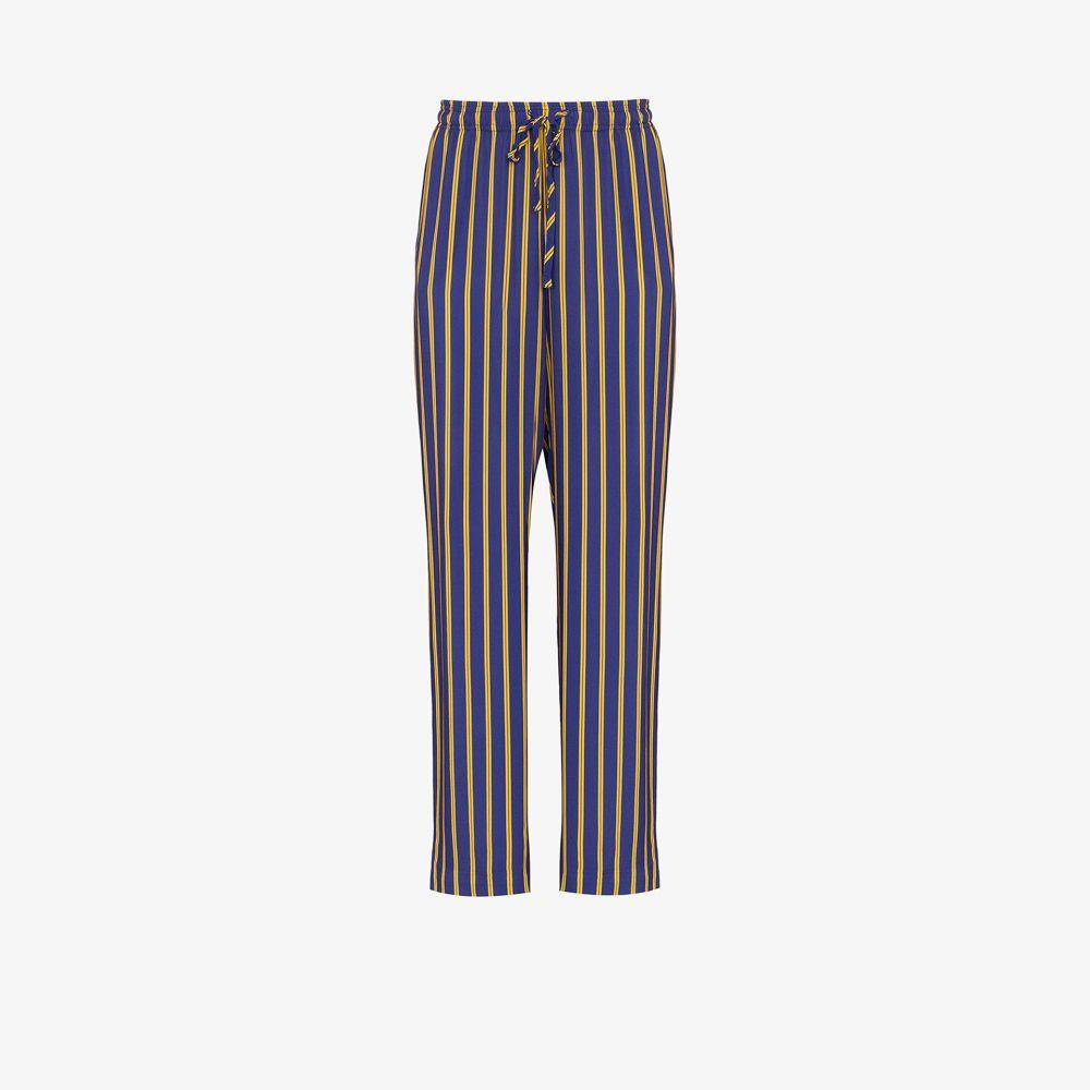 エステバン コルタサル Esteban Cortazar メンズ ボトムス・パンツ 【drawstring waist stripe trousers】blue