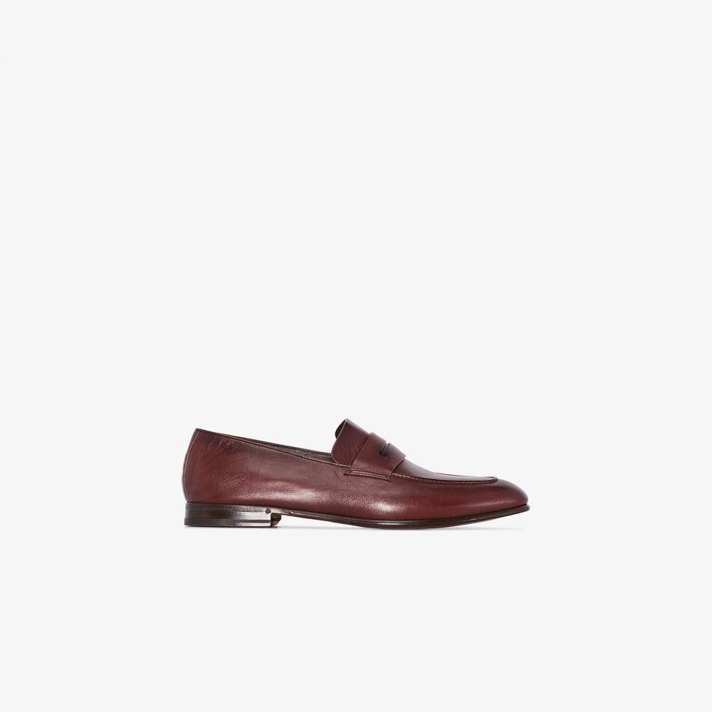 エルメネジルド ゼニア Ermenegildo Zegna メンズ ローファー シューズ・靴【brown leather loafers】brown