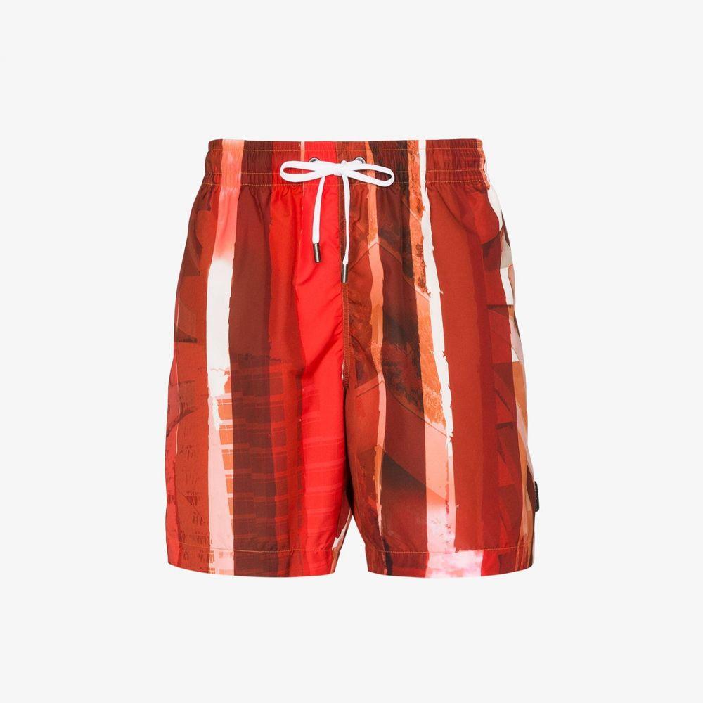 エルメネジルド ゼニア Ermenegildo Zegna メンズ 海パン ショートパンツ 水着・ビーチウェア【Striped swim shorts】red