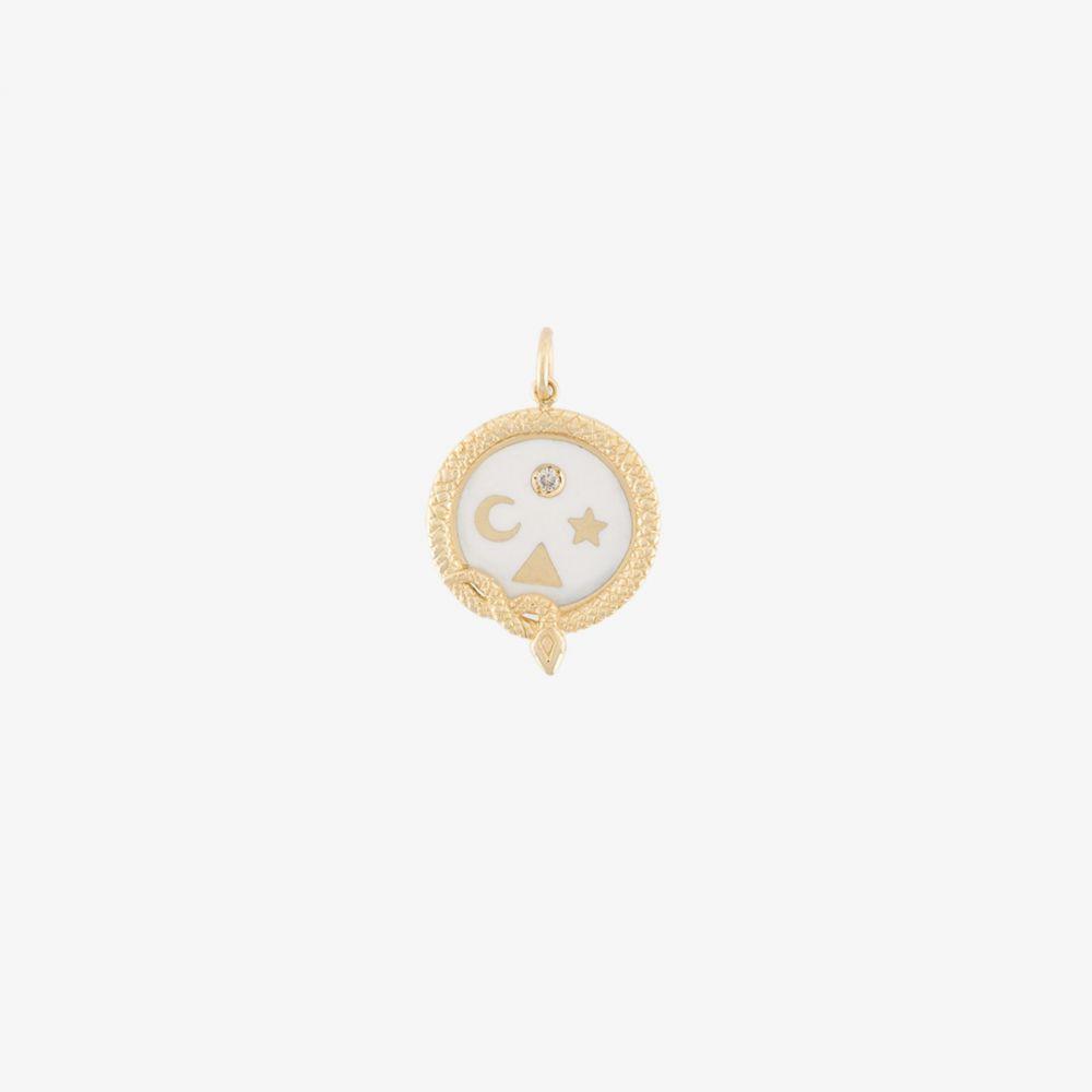 ファウンドレー Foundrae レディース ジュエリー・アクセサリー チャーム【18K yellow gold and white Wholeness Baby charm】metallic