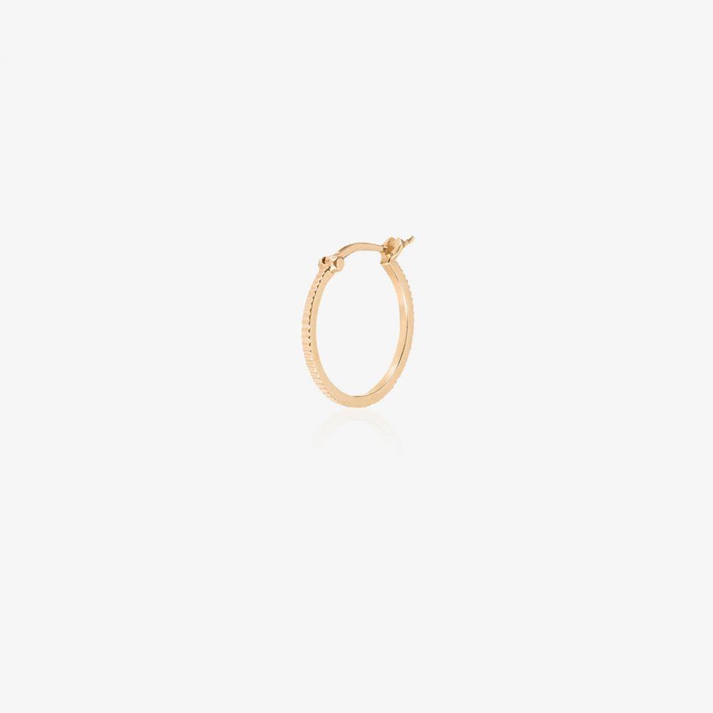 ファウンドレー Foundrae レディース イヤリング・ピアス フープピアス ジュエリー・アクセサリー【18K yellow gold and diamond hoop earring】