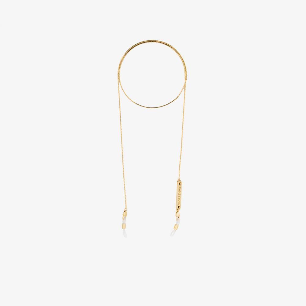 フレームチェーン Frame Chain レディース ファッション小物 【18K yellow gold Slinky glasses chain】metallic