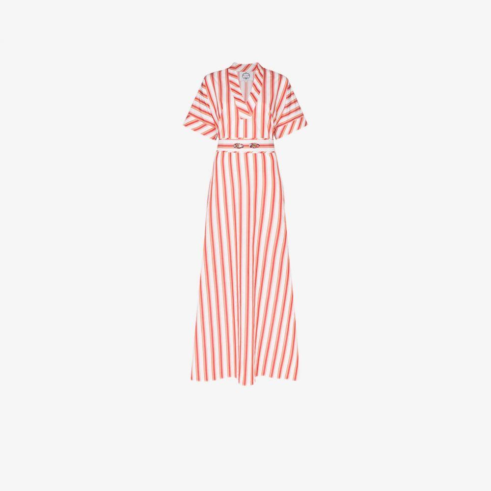 エヴィ グリンテラ Evi Grintela レディース ワンピース ワンピース・ドレス【Striped Side Split Cotton Dress】multicolour