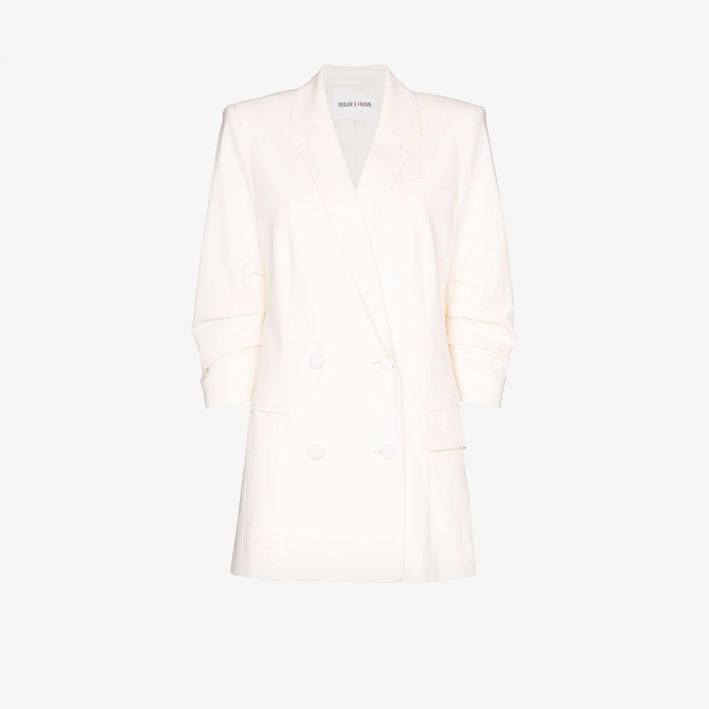 フレーム FRAME レディース スーツ・ジャケット アウター【X Imaan Double-breasted blazer】white
