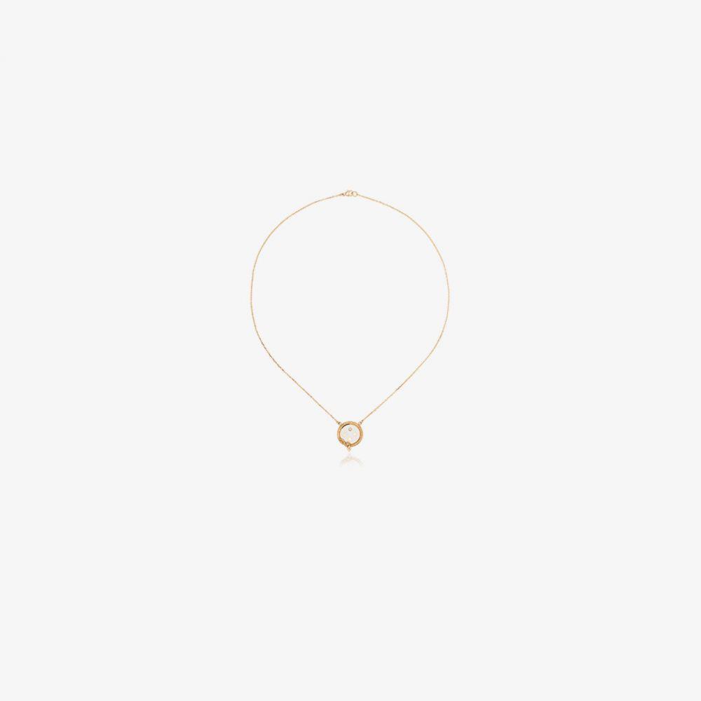 ファウンドレー Foundrae レディース ネックレス ジュエリー・アクセサリー【18K yellow gold and white Wholeness diamond necklace】metallic