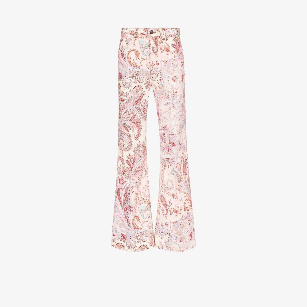 エトロ Etro レディース ジーンズ・デニム ワイドパンツ ボトムス・パンツ【paisley pattern wide leg jeans】pink