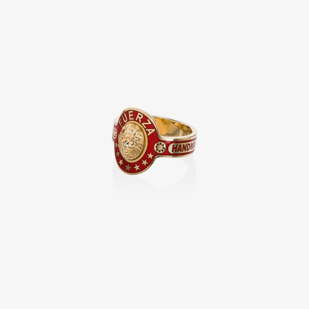 ファウンドレー Foundrae レディース 指輪・リング ジュエリー・アクセサリー【18K Yellow Gold and Red Strength ring】