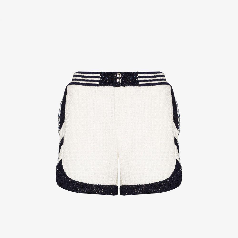 フェイス コネクション Faith Connexion レディース ショートパンツ ボトムス・パンツ【patterned tweed shorts】white
