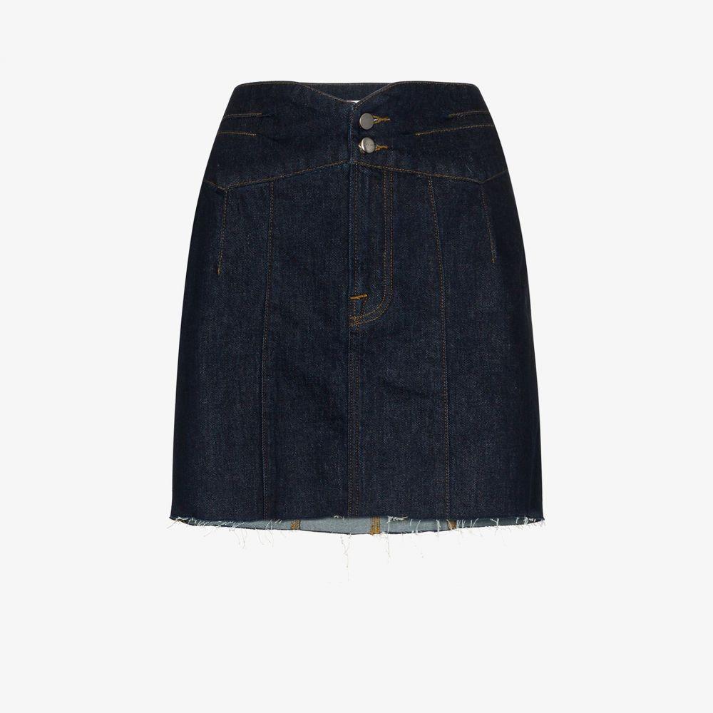 フレーム FRAME レディース ミニスカート デニム スカート【Tux waist denim mini skirt】blue