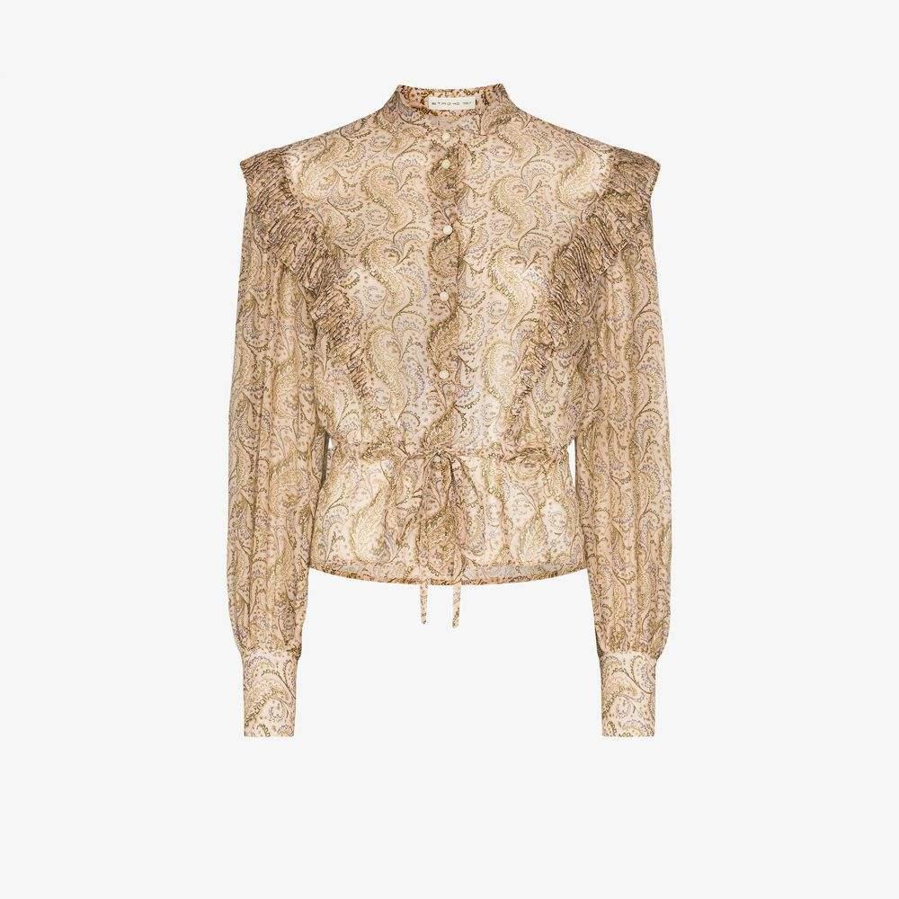 エトロ Etro レディース ブラウス・シャツ トップス【ruffle trim paisley print blouse】neutrals