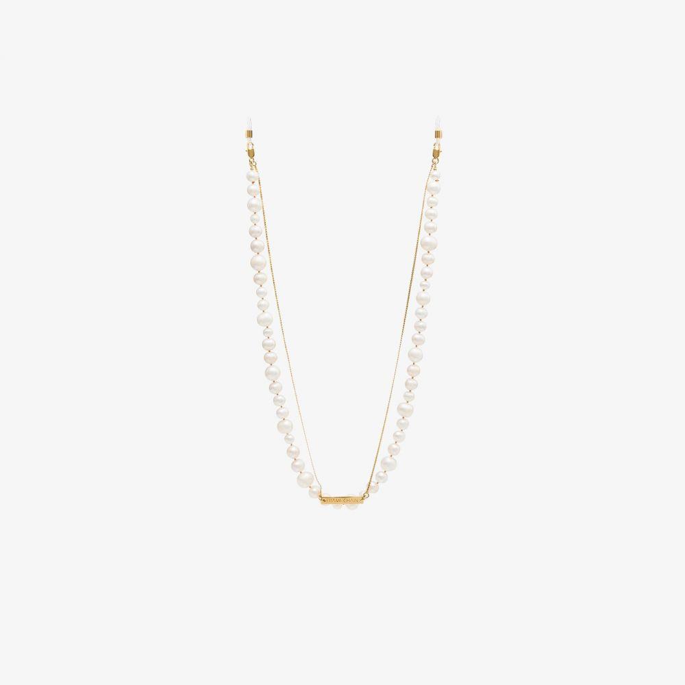 フレームチェーン Frame Chain レディース ファッション小物 【18K gold-plated pearly princess chain】white