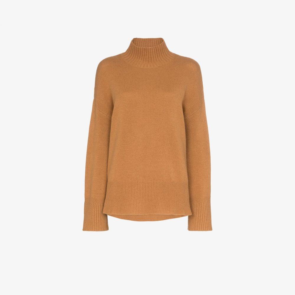 フレーム FRAME レディース ニット・セーター トップス【High Low cashmere turtleneck sweater】brown
