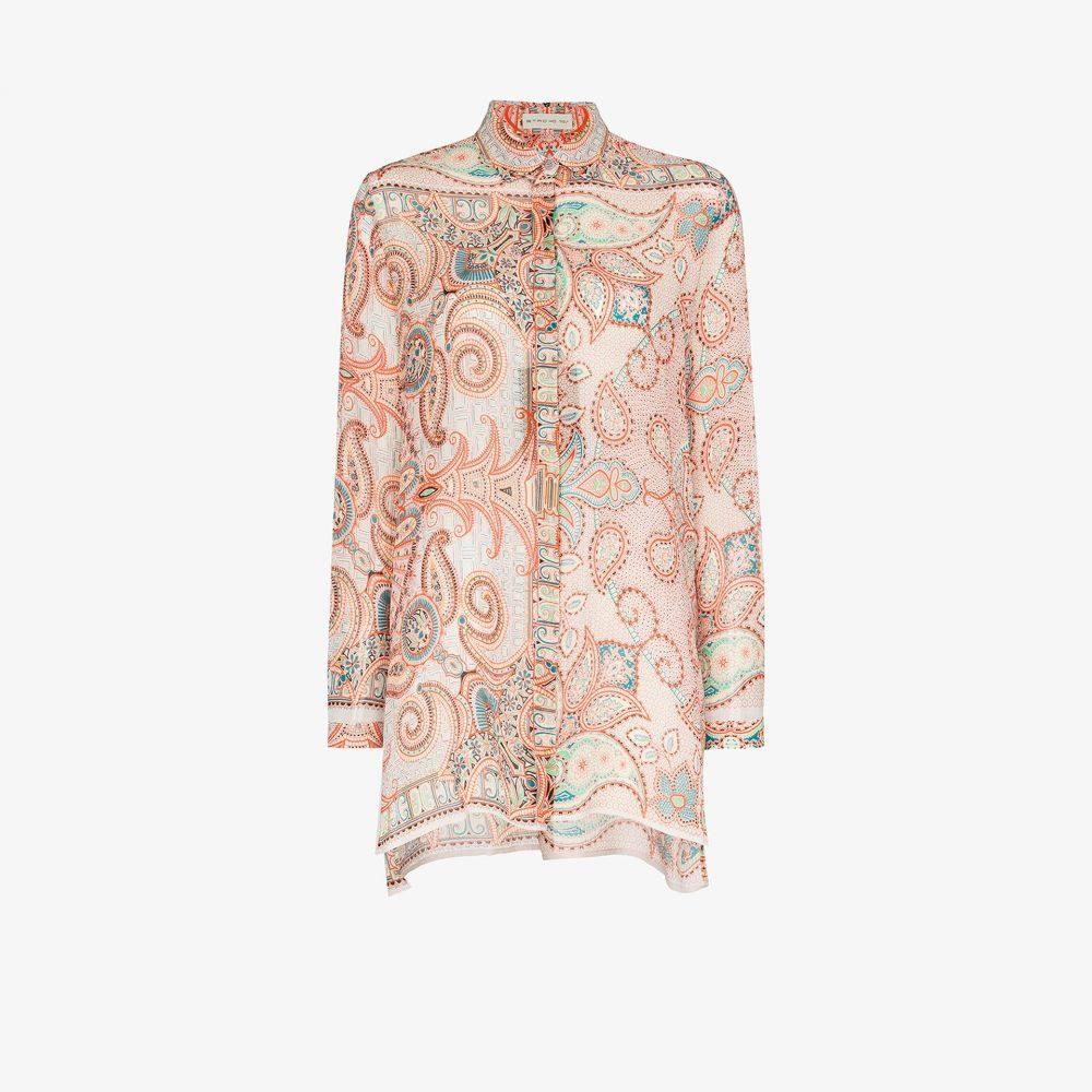 エトロ Etro レディース ブラウス・シャツ トップス【paisley pattern silk shirt】orange