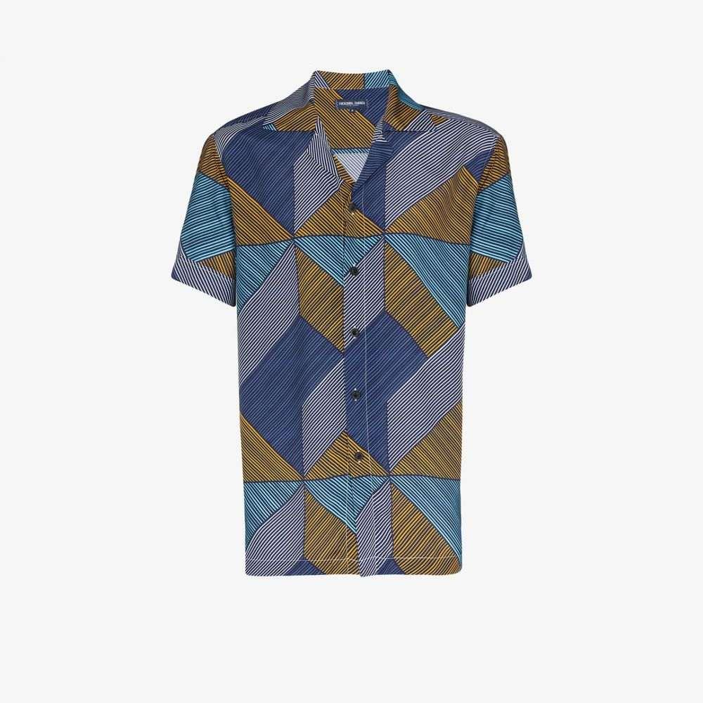 フレスコボールカリオカ Frescobol Carioca メンズ シャツ トップス【weave print geometric shirt】blue