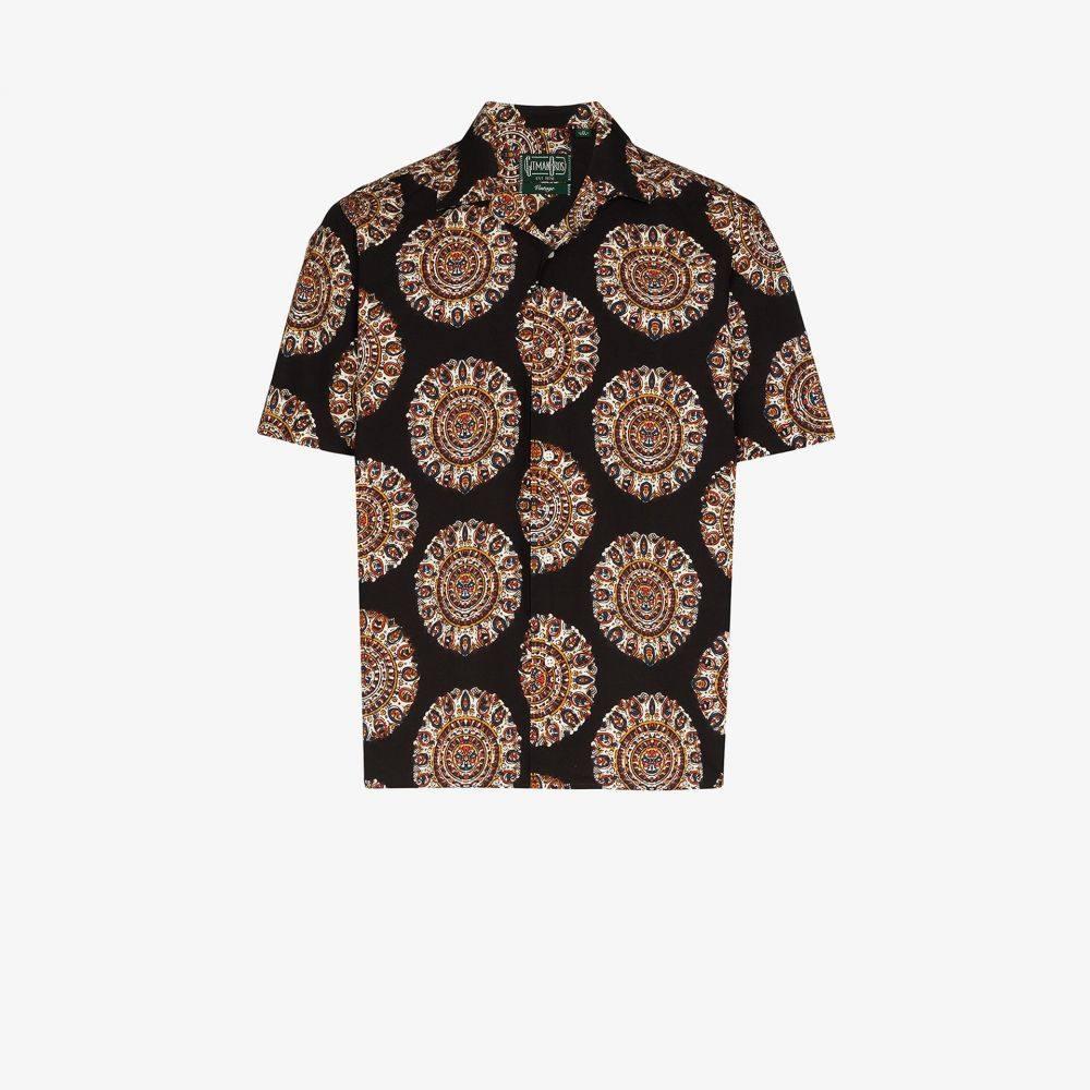 ギットマンヴィンテージ Gitman Vintage メンズ シャツ トップス【Medallion Kalamakari printed shirt】black