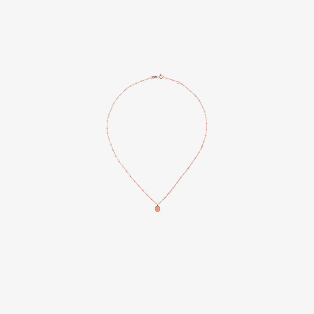 ジジ クロゾウ Gigi Clozeau レディース ネックレス ジュエリー・アクセサリー【18K rose gold and salmon pink diamond bead necklace】yellow
