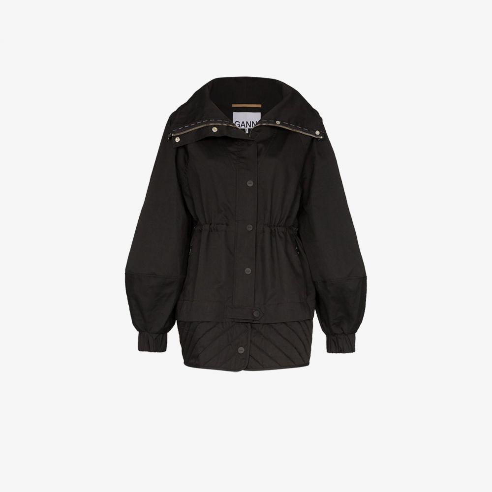 ガニー GANNI レディース ブルゾン アウター【blouson sleeve jacket】black