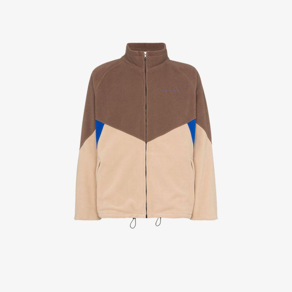 フューチャー Futur メンズ フリース トップス【North fleece jacket】brown